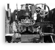 Tractor in Black & White Canvas Print
