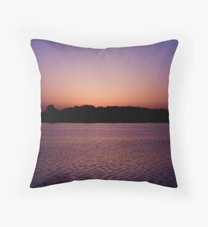 Sunrise over Lake Bloomington Throw Pillow