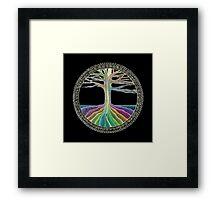 Chakra Tree Mandala Framed Print