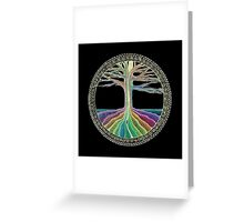 Chakra Tree Mandala Greeting Card