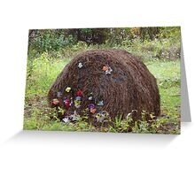 A fancy bale of hay Greeting Card