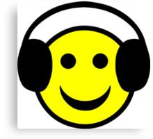 Headphone Smiley Canvas Print