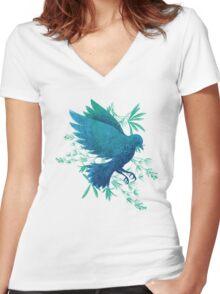 Birdy Bird Women's Fitted V-Neck T-Shirt