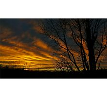 Red Sky Silhouette Photographic Print