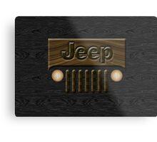 Wooden Jeep Willys ~ Black [Update] Metal Print
