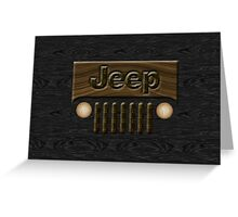 Wooden Jeep Willys ~ Black [Update] Greeting Card