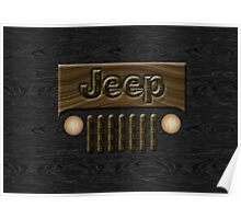 Wooden Jeep Willys ~ Black [Update] Poster