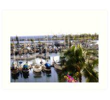 Paradise Marina Art Print