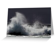 Wave action at Narooma Greeting Card