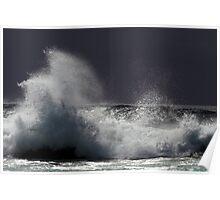 Wave action at Narooma Poster
