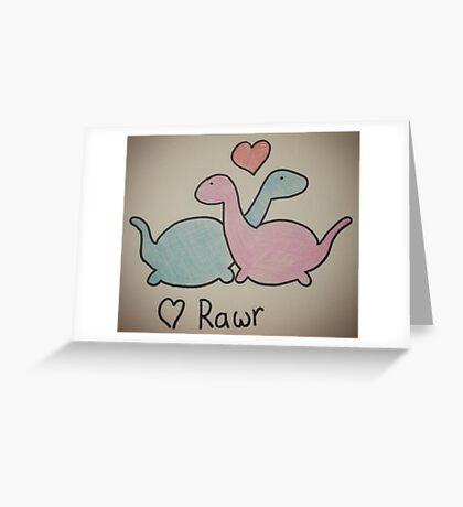 Dino love rawr Greeting Card