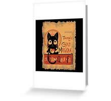 Le Chat Magique Greeting Card