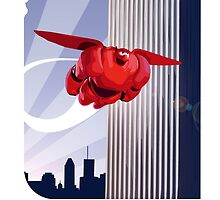 Baymax in the air! by Julien Missaire