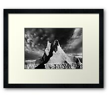 Sunrise over Badlands Castle Trail .4 Framed Print