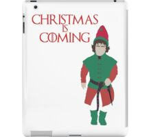 Christmas is Coming - Game of Thrones Parody (Tyrion Lannister) iPad Case/Skin