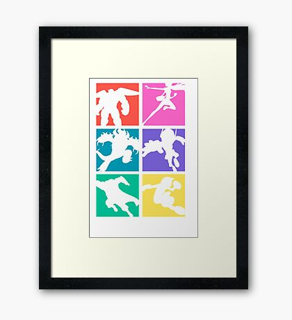 Big Hero 6, colored! Framed Print