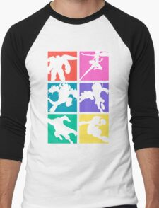 Big Hero 6, colored! Men's Baseball ¾ T-Shirt