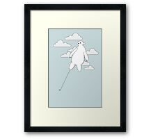 Baymax in the cloud! Framed Print