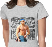 Zac Efron Grey & Blue Womens Fitted T-Shirt