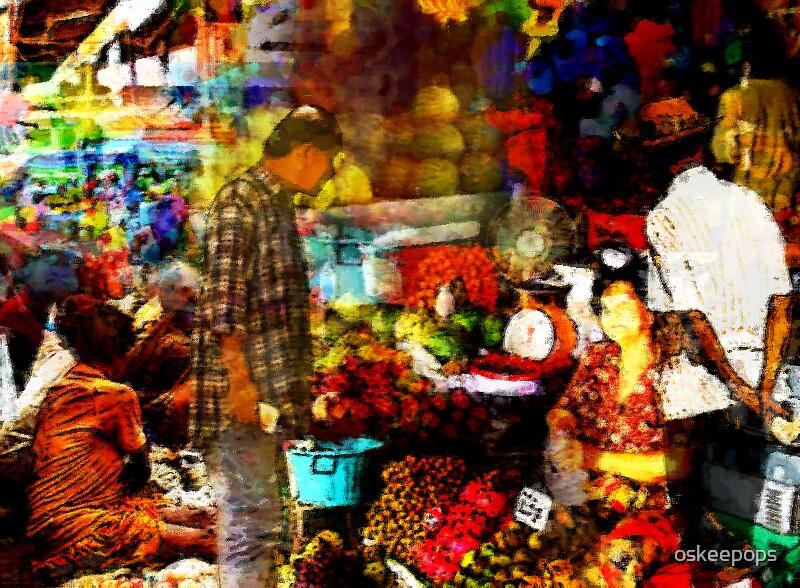 market scene  by oskeepops