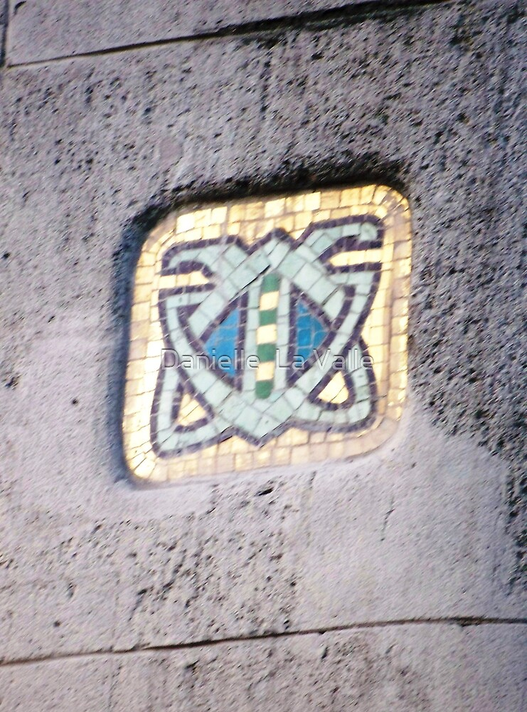 Entrance to Gresham Palota (close-up of mosaic inlay) by Danielle  La Valle