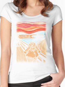 Scream in Quahog Women's Fitted Scoop T-Shirt