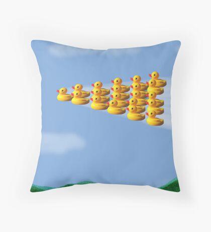 formation ducks Throw Pillow