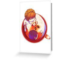 Makoto and Haruka Latte Greeting Card