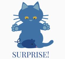 Surprise! cat and mouse Kids Tee
