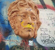 John Lennon Wall, Prague 1 by Danielle  La Valle