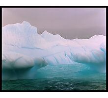Blue Berg Mouth Photographic Print