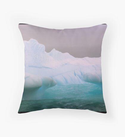 Blue Berg Mouth Throw Pillow