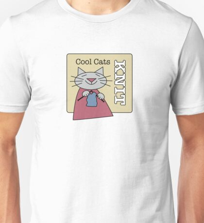 Cool Cats Knit Unisex T-Shirt
