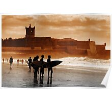 Carcavelos Surfers Poster