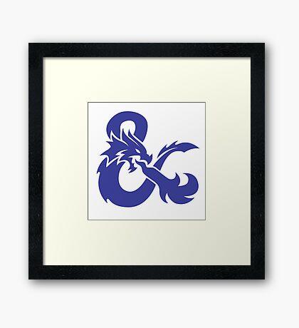 DND Blue Logo Framed Print