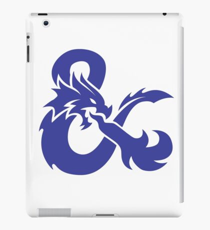DND Blue Logo iPad Case/Skin