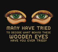 The Eyes ~ Wooden Green Eyes [Black] Kids Clothes