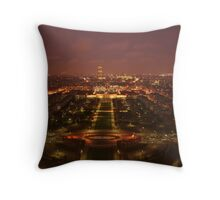 Nightime view Throw Pillow