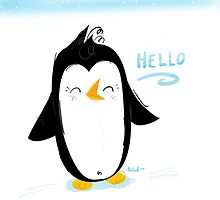 Hello Little Penguin by MichaelaSue