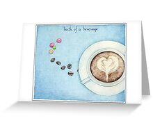 Birth of a Beverage Greeting Card
