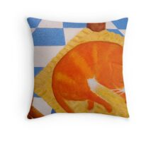 marmalade cat Throw Pillow