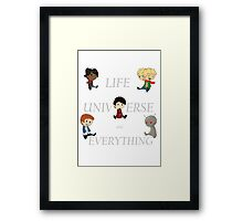 Life, Universe and Everything Framed Print