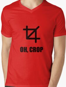 Oh Crop Mens V-Neck T-Shirt