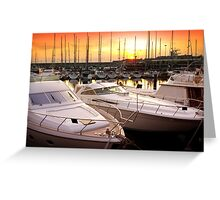 Yacht Marina Greeting Card