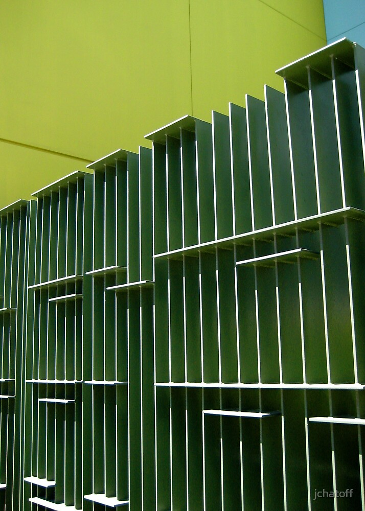 green fence by jchatoff