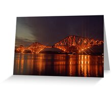 Forth Bridge built 1890,  Firth of  Forth, Scotland Greeting Card