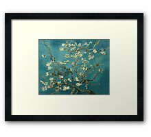 Blossoming Almond Tree, famous post  impressionism fine art oil painting by Vincent van Gogh.  Framed Print
