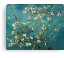 Blossoming Almond Tree, famous post  impressionism fine art oil painting by Vincent van Gogh.  Canvas Print