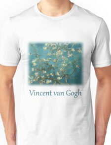 Blossoming Almond Tree, famous post  impressionism fine art oil painting by Vincent van Gogh.  Unisex T-Shirt