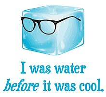 Hipster Ice Cube Was Water Before It Was Cool Photographic Print